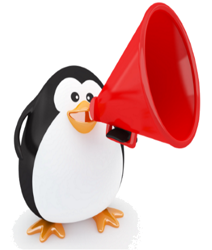 Google Algorithim - Penguin with Megaphone